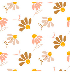 chamomile simple flowers modern pattern seamless vector image