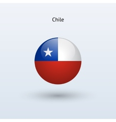 Chile round flag vector