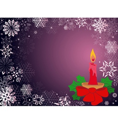 Christmas greeting card in purple hues vector