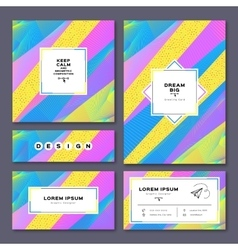 Collection cards invitation A4 poster business vector image