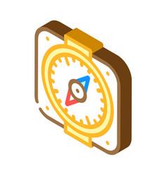 Compass pirate isometric icon vector