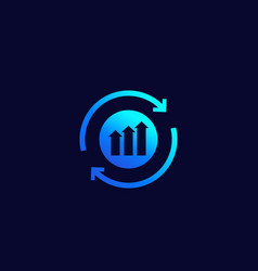 Continuous growth and progress icon vector