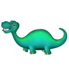 Cute Brontosaurus cartoon vector