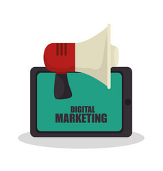 digital marketing e-commerce icon vector image