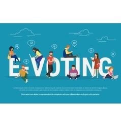 E-voting concept vector