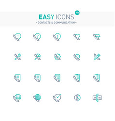 Easy icons 30e contacts vector