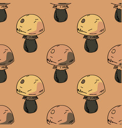 Fat mushroom seamless pattern vector