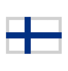 Finland flag pixel art cartoon retro game style vector