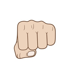 Fist vector image