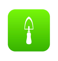garden trowel icon digital green vector image