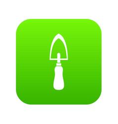 Garden trowel icon digital green vector