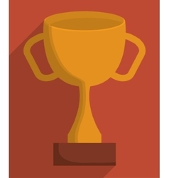 Gold trophy cup design vector