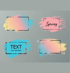 hand drawn artistic design element box frame or vector image