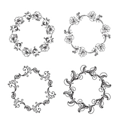 Hand Drawn Ornamental Circle Frame vector