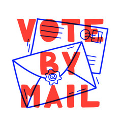 hand drawn vote mail stay safe concept vector image