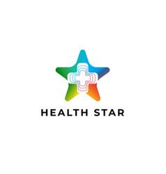 health star logo icon ilustration vector image