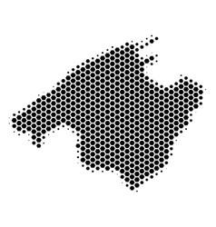 Hexagon halftone spain mallorca island map vector