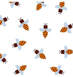 honey bee pattern pattern vector image
