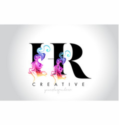 Hr vibrant creative leter logo design with vector