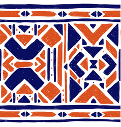 ikat ornament waves tribal pattern vector image