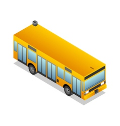 Isometric yellow bus vector