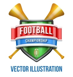 Label with vuvuzela for football sport competition vector image vector image