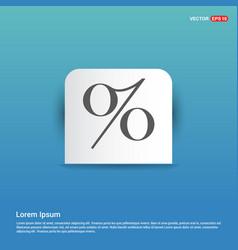 labels percent price icon - blue sticker button vector image