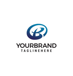 letter b logo design concept template vector image