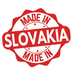 made in slovakia sign or stamp vector image