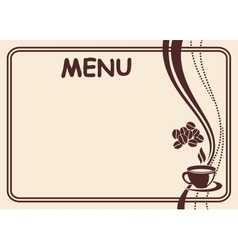 Menu form vector