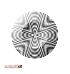 modern minimalistic geometric design of logo vector image