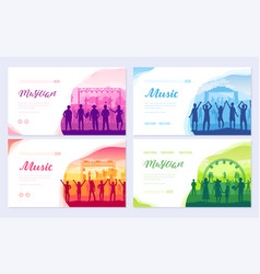 musical festival on outdoor air park the vector image