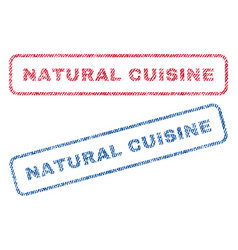 Natural cuisine textile stamps vector