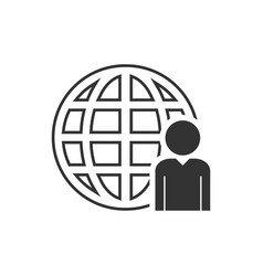 network administrator icon flat vector image