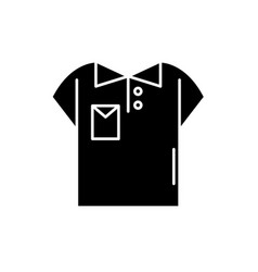 polo black icon sign on isolated vector image