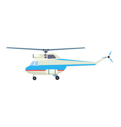 Research helicopter isolated icon vector