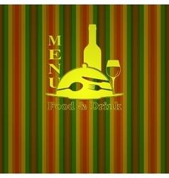 restaurant menu food and drink vector image