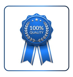Ribbon award icon blue 3 vector image