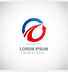 round loop arrow company logo vector image