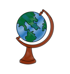 school globe map atlas study element vector image