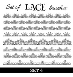 Set of lace brushes vector