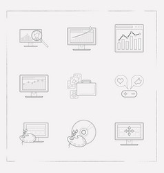 Set of web design icons line style symbols with vector