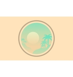 Silhouette of palm icon landscape vector
