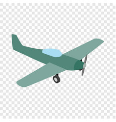 Small plane isometric icon vector
