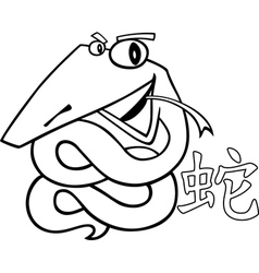 snake chinese horoscope sign vector image
