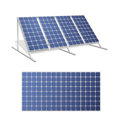 Solar panels realistic 3d set vector
