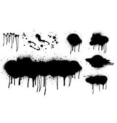 spray graffiti stencil template set vector image