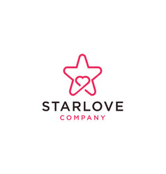 Starlove logo icon vector