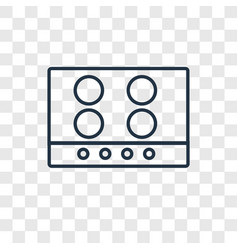 stove concept linear icon isolated on transparent vector image
