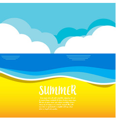 summer concept happiness and vector image